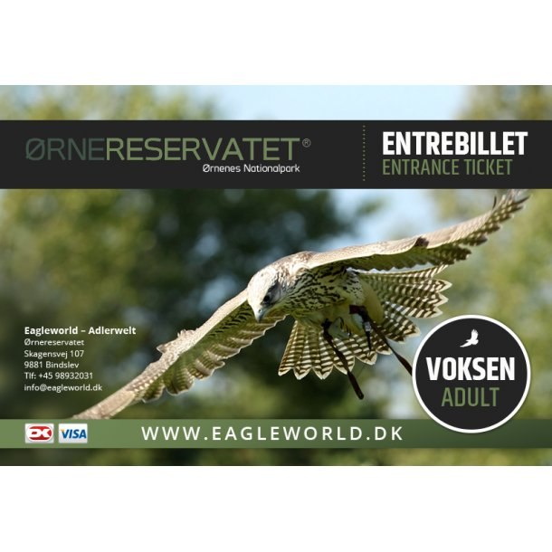 Entrebillet Voksen (Adult) online ticket