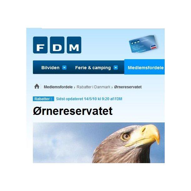 FDM-medlem 2 voksne for 1 voksens pris (KUN gyldig med anført medlemsnummer!)